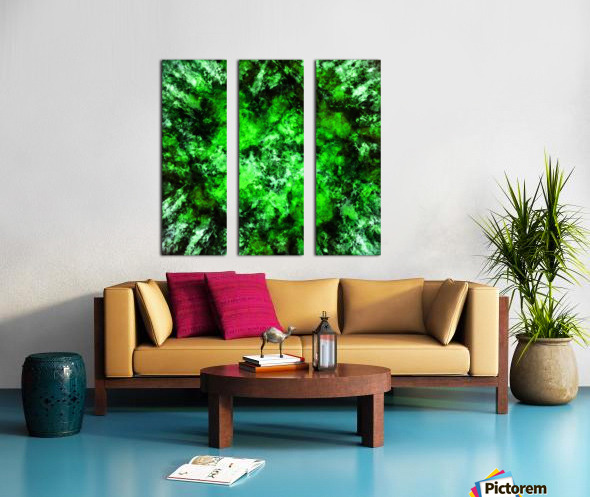 Green burst Split Canvas print