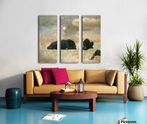 Grizzly Bears by Bierstadt Split Canvas print