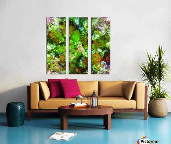 Green scene Split Canvas print