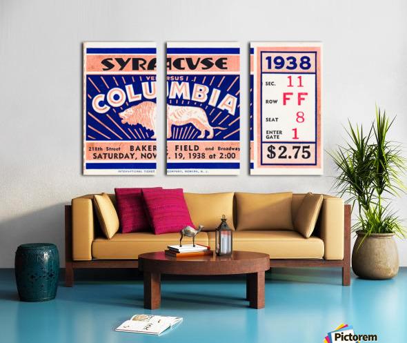 1938 Syracuse vs. Columbia Split Canvas print