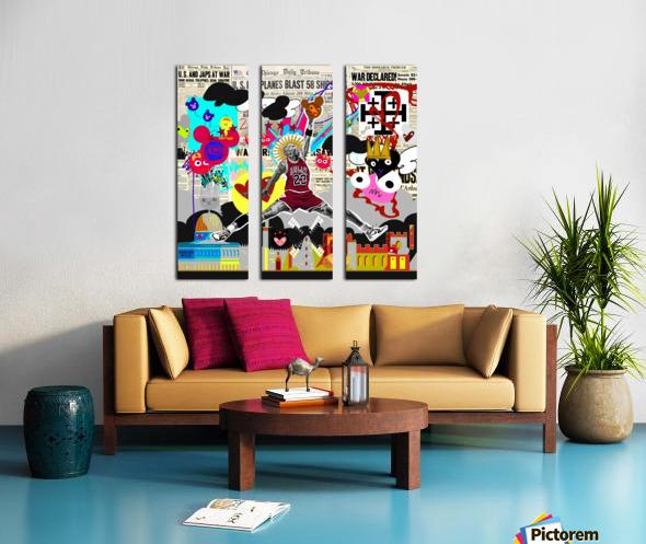Black Jesus Split Canvas print