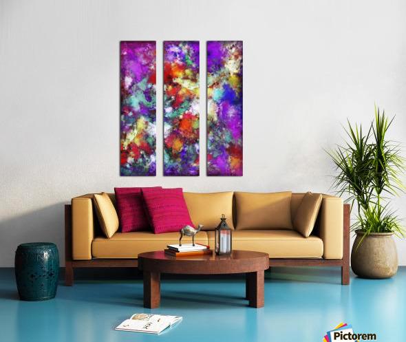 Kinetic Split Canvas print