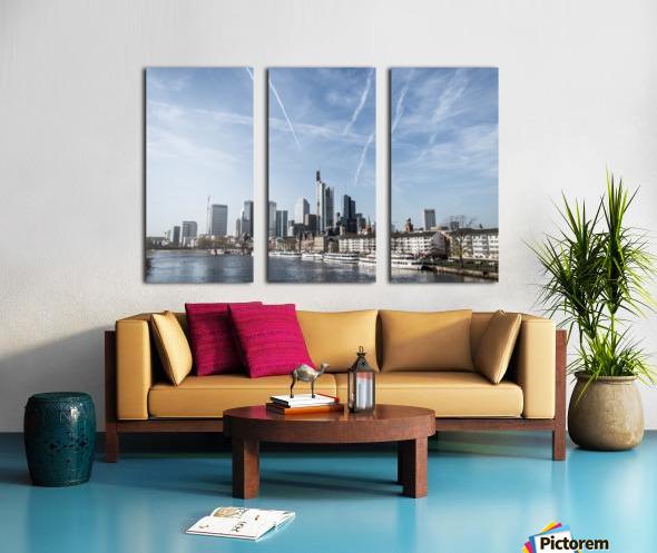 frankfurt skyscraper Split Canvas print