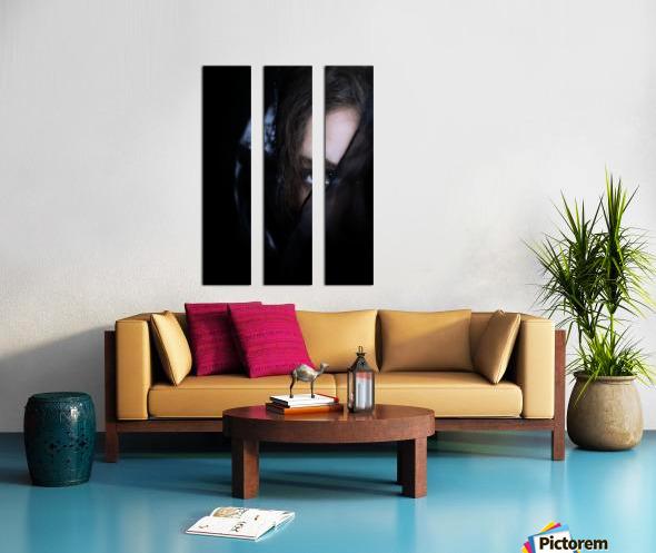 low key dark girl portrait Split Canvas print