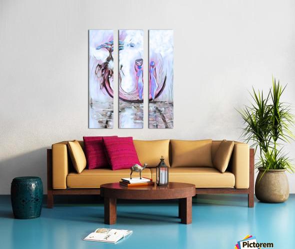 Deracine Split Canvas print