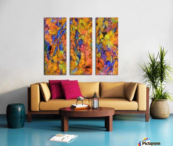 Landslip Split Canvas print