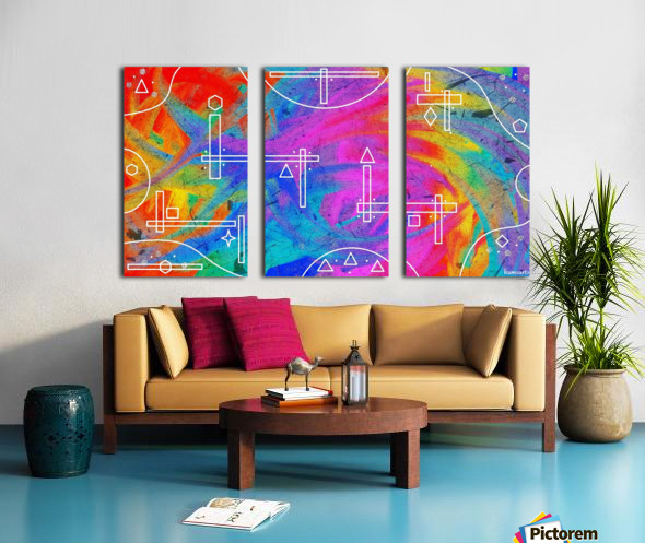 The Colors of The Wind Split Canvas print