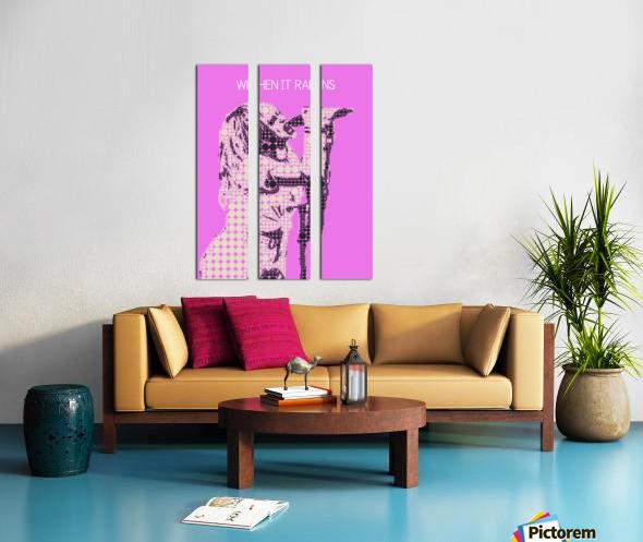 When It Rains   Hayley Williams Split Canvas print