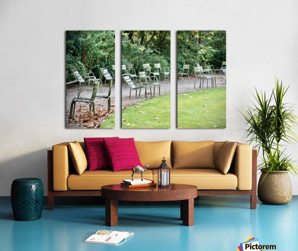 Chaises du Luxembourg   6 Split Canvas print