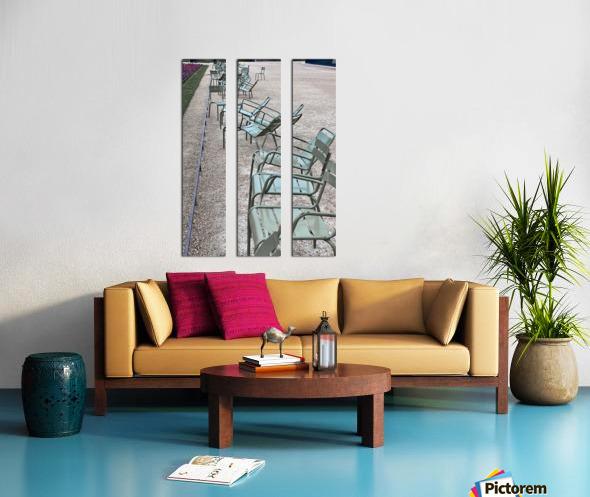 Chaises du Luxembourg   1 Split Canvas print