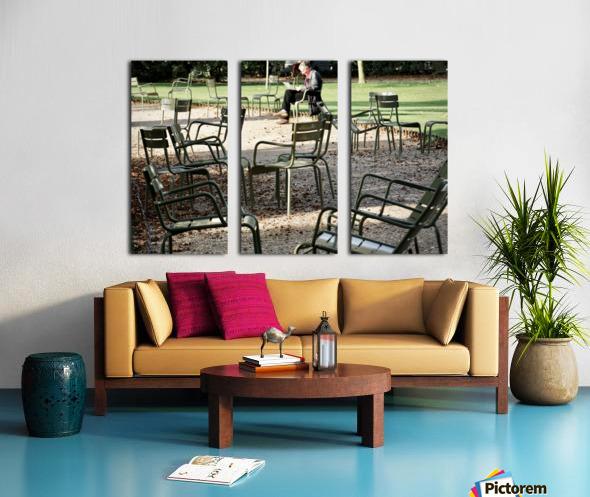 Chaises du Luxembourg   2 Split Canvas print