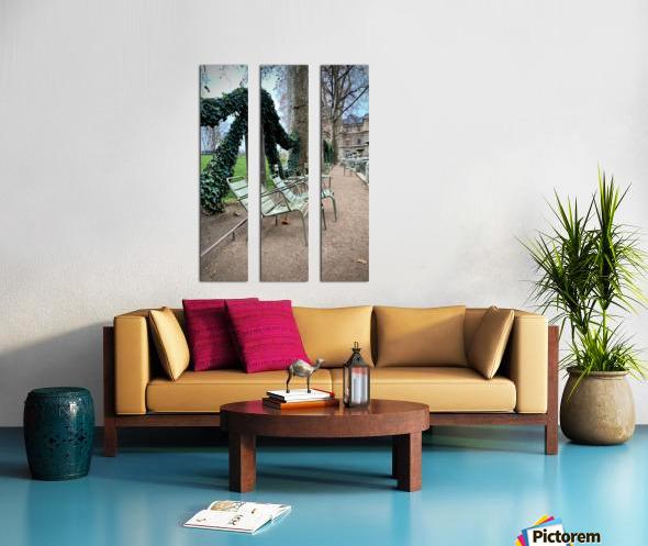 Chaises du Luxembourg   7 Split Canvas print