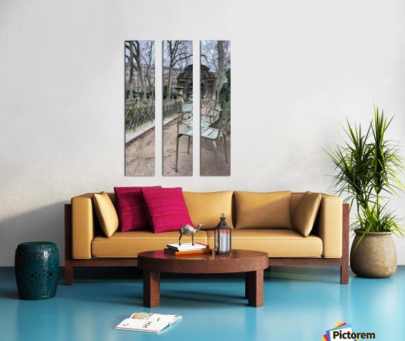 Chaises du Luxembourg   10 Split Canvas print