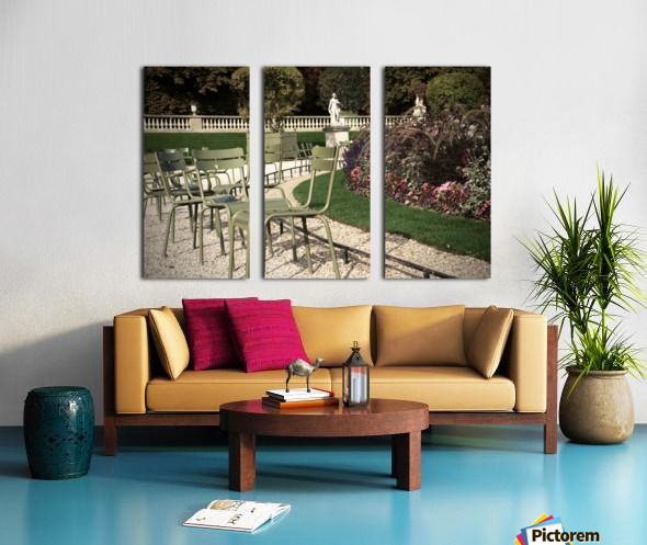 Chaises du Luxembourg   8 Split Canvas print