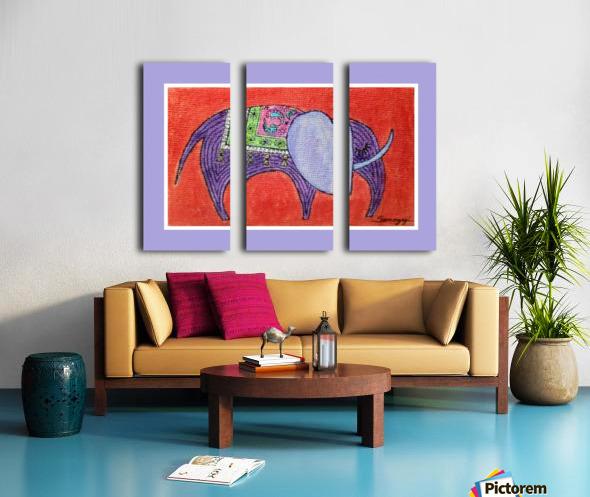 Pretty Pachyderm in frame Split Canvas print