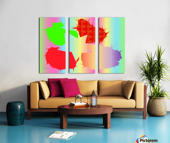 Divided Objects 3 Split Canvas print