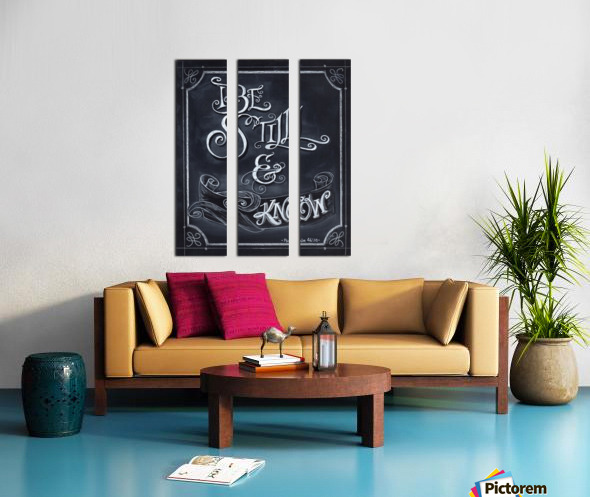 Be Still and Know Split Canvas print