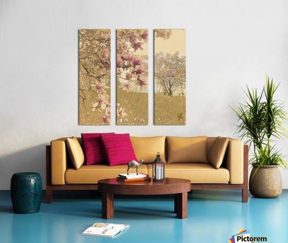 PInk Magnolia Tree Split Canvas print