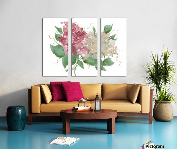hydrangea Split Canvas print