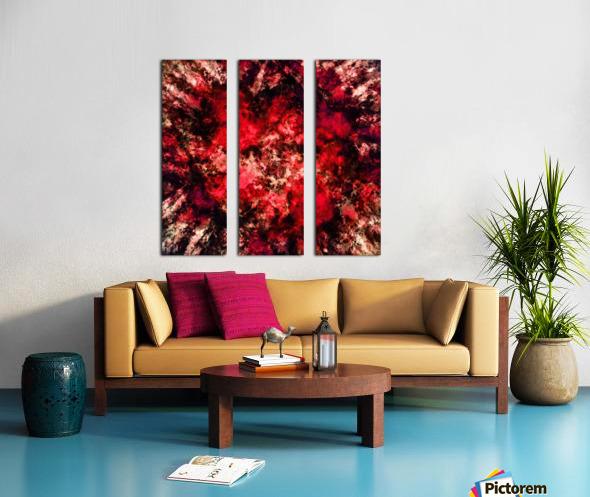 Red burst Split Canvas print
