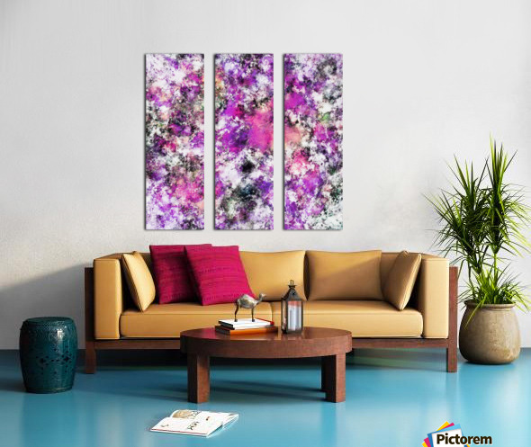 Reflecting the purple water Split Canvas print