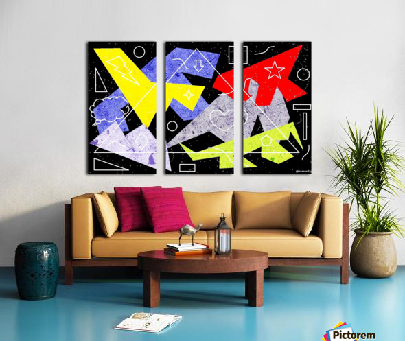 Simple Shapes II Split Canvas print