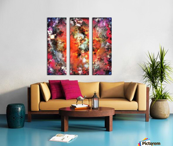 See the flames Split Canvas print