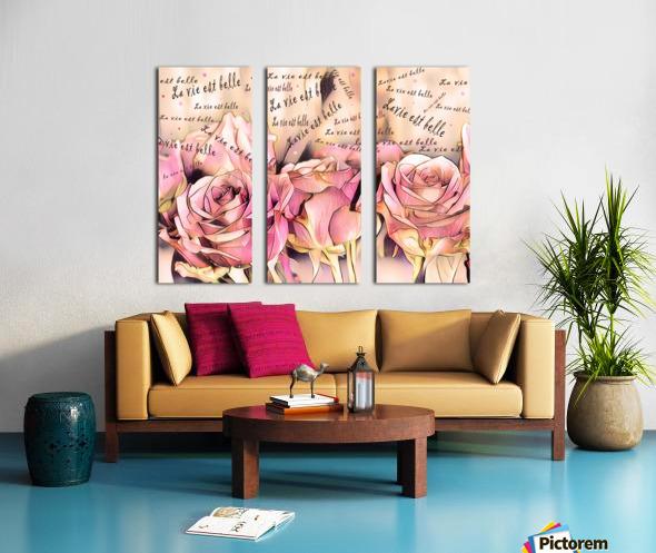 La vie est belle Split Canvas print