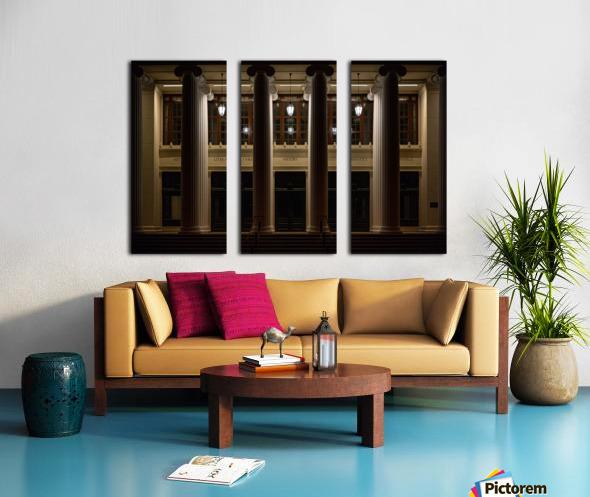 Night Pillars Split Canvas print