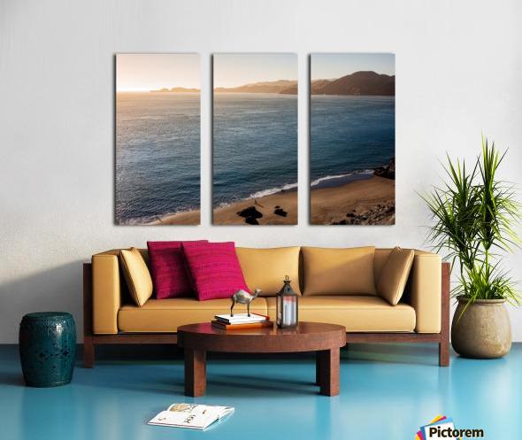 Marshall Beach Sunsets Split Canvas print