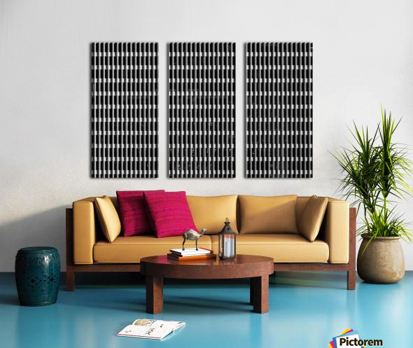 Black and White Skyscraper Windows Toile Multi-Panneaux