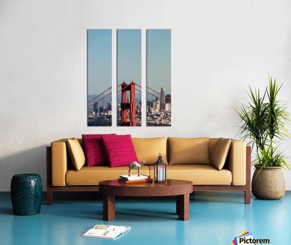 Threading the Needle - Golden Gate Bridge Split Canvas print