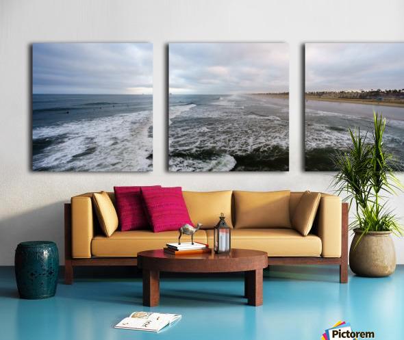 Huntington Beach Panorama Toile Multi-Panneaux