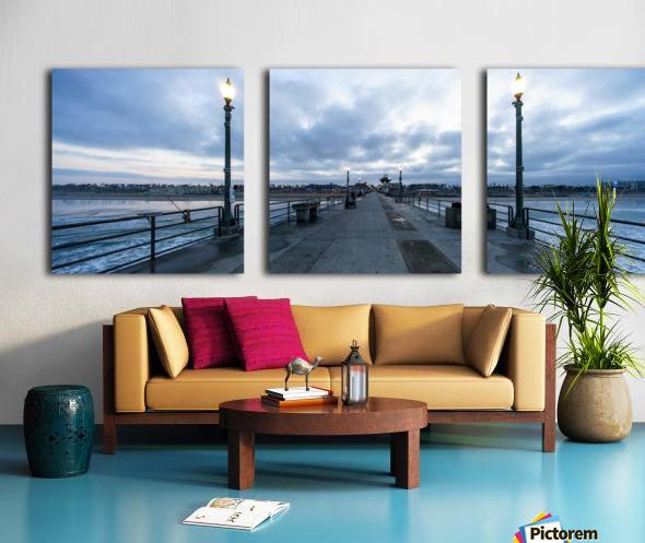 Huntington Beach Pier Panorama Split Canvas print