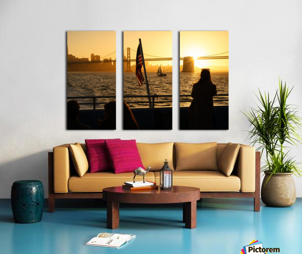 Sunset In The Bay Split Canvas print