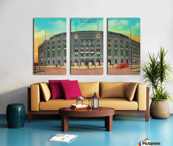 1935 Vintage New York Yankees Stadium Art Split Canvas print