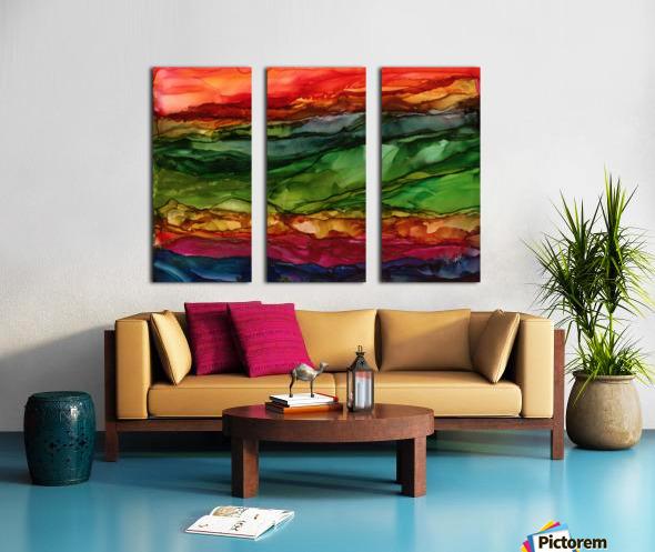 Kaleidoscope Canyon Split Canvas print