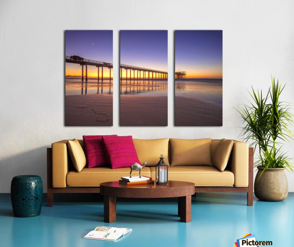 Sunset Therapy Split Canvas print