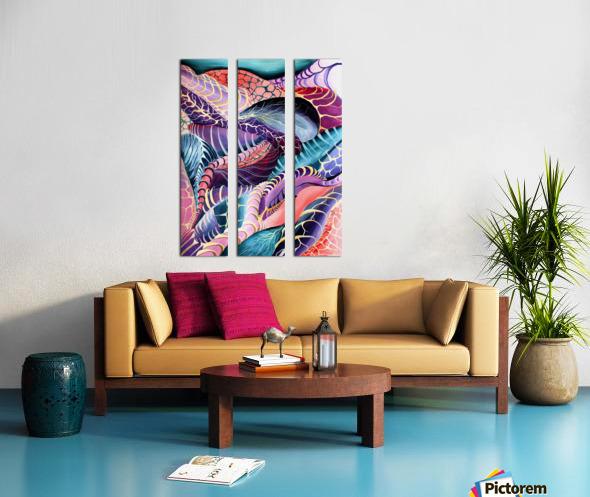 Artdeco Abstract Linear Interlacing Pattern Split Canvas print