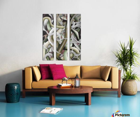 Interlacing Dramatic Contemporary Abstract Split Canvas print