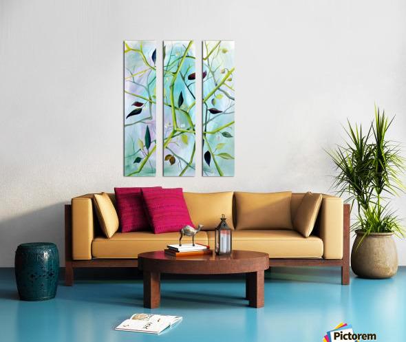 Realm of Greenery Foliage Split Canvas print