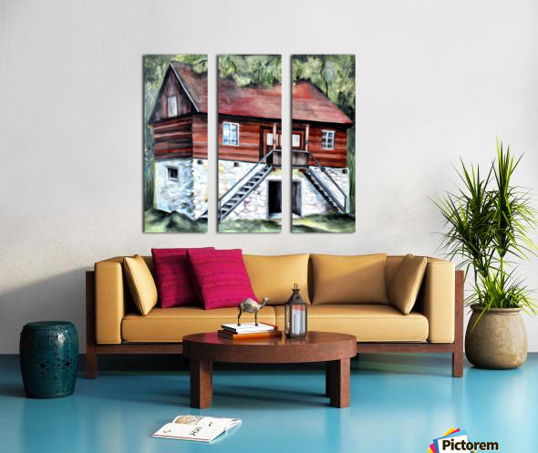 Romania Transylvania Historical Traditional House Split Canvas print