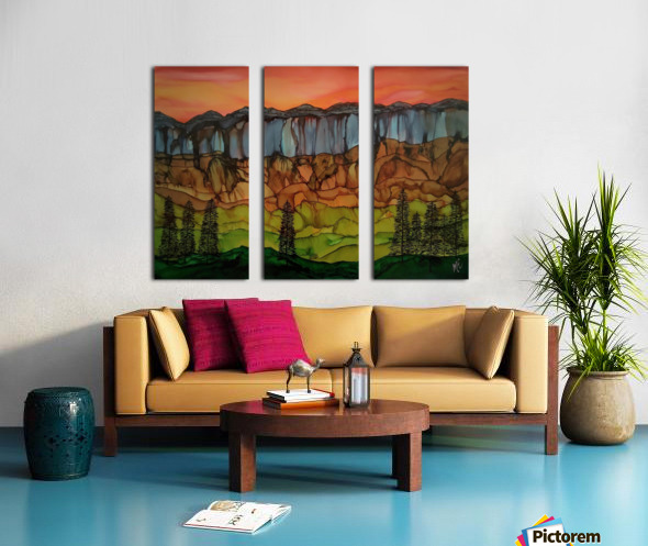 Weeping Cliffs Split Canvas print