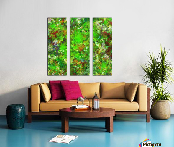 Slippery green rocks Split Canvas print
