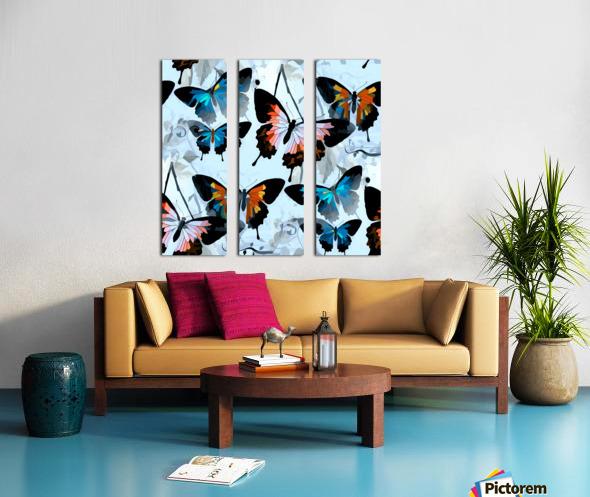 Seamless Butterflies Pattern  Split Canvas print