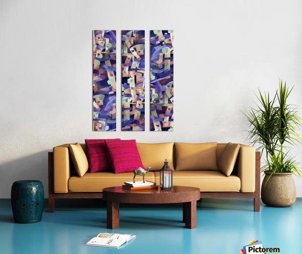 Seamless Geometric Vivid Abstract Split Canvas print