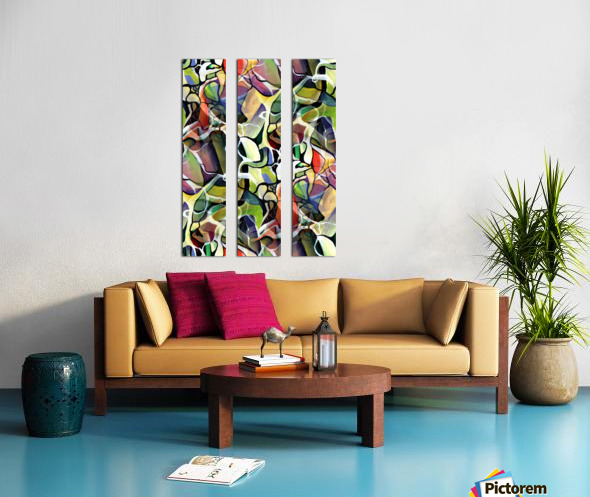 Linear Interlacing Expressionism Abstract Split Canvas print
