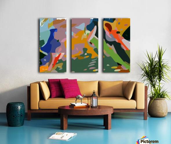 blue eagle Split Canvas print