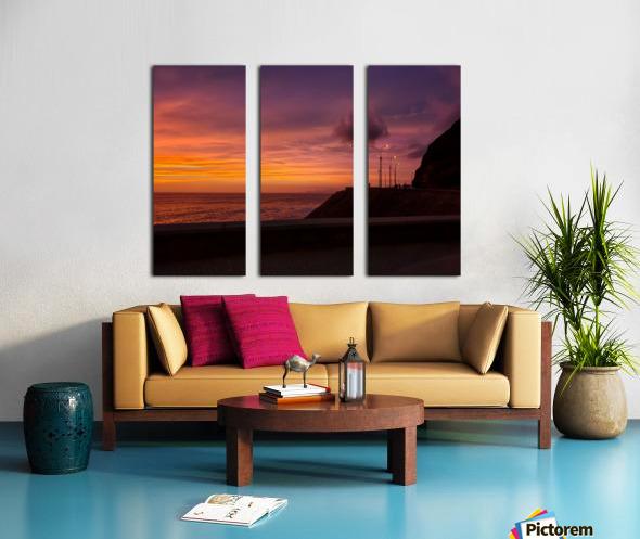 Costa Verde Sunset  Split Canvas print