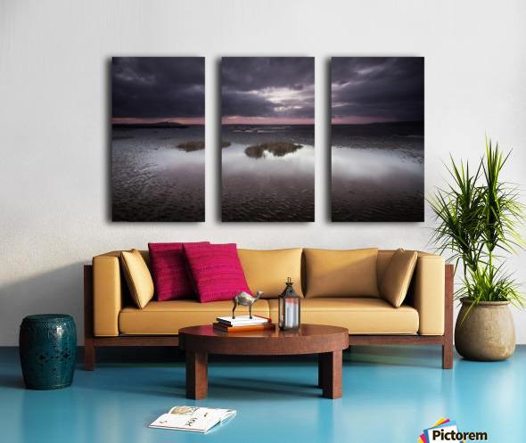 Machynys sunset Split Canvas print